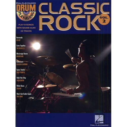 HAL LEONARD DRUM PLAY ALONG VOL.02 CLASSIC ROCK + CD