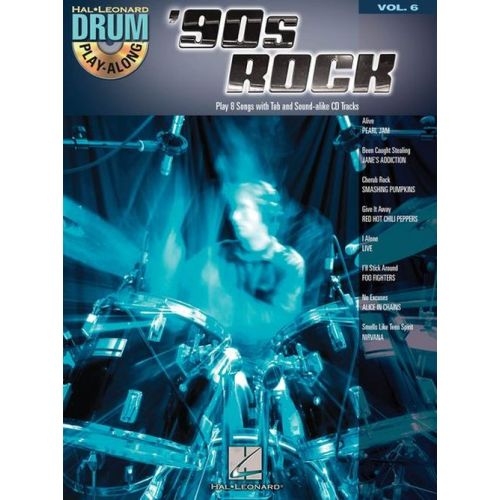 HAL LEONARD DRUM PLAY-ALONG VOL.6 - '90s ROCK + CD