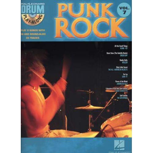 HAL LEONARD DRUM PLAY ALONG VOL.7 - PUNK ROCK + CD