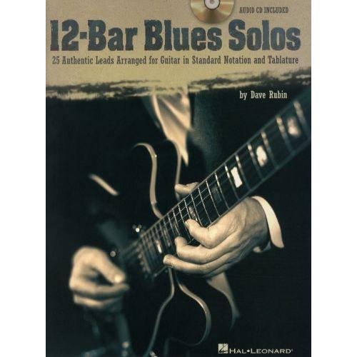 HAL LEONARD RUBIN DAVE - 12 BAR BLUES SOLOS + CD - GUITAR TAB