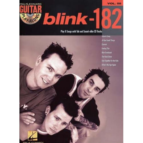 HAL LEONARD GUITAR PLAY ALONG VOL.58 - BLINK 182 + CD - GUITAR TAB