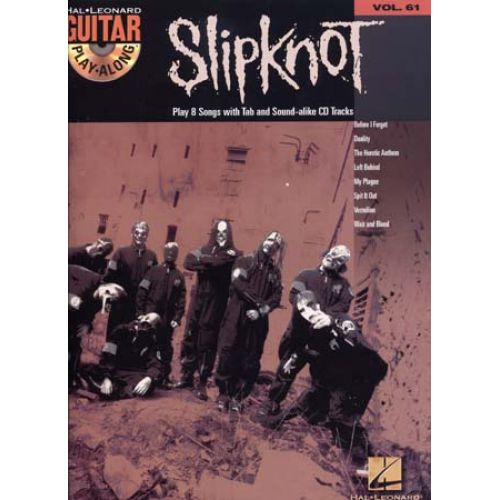 HAL LEONARD SLIPKNOT - GUITAR PLAY ALONG VOL.61 + CD - GUITAR TAB