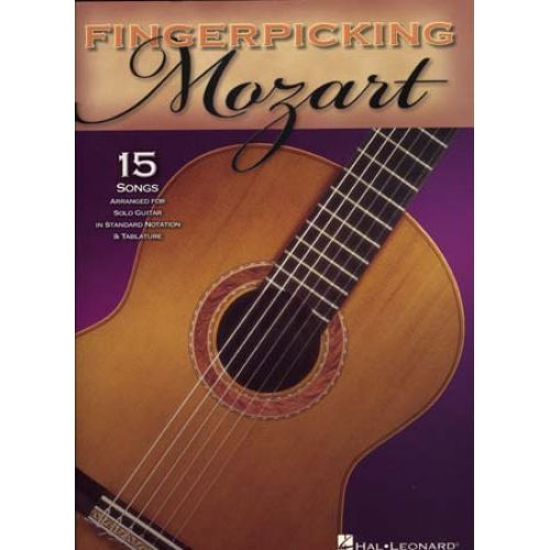 HAL LEONARD MOZART - FINGERPICKING 15 SONGS FOR SOLO - GUITAR TAB