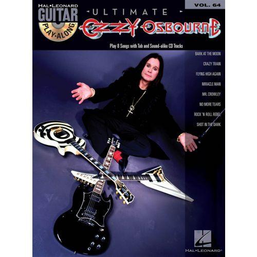 HAL LEONARD GUITAR PLAY-ALONG VOLUME 64 - OZZY OSBOURNE GUITAR + CD - GUITAR TAB