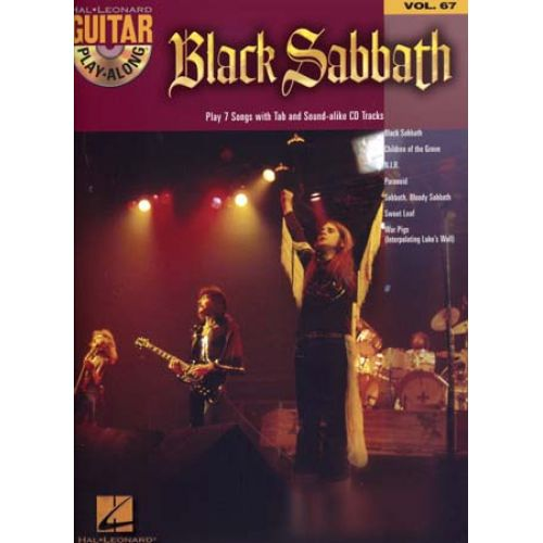 HAL LEONARD BLACK SABBATH - GUITAR PLAY ALONG VOL.67 + CD - GUITARE TAB