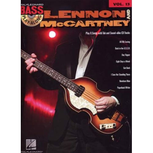 HAL LEONARD LENNON & MC CARTNEY - BASS PLAY ALONG VOL.13 + CD - BASS TAB