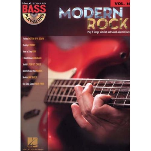 HAL LEONARD BASS PLAY ALONG VOL.14 - MODERN ROCK + CD - BASS TAB