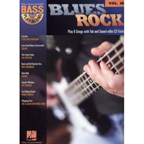 HAL LEONARD BASS PLAY ALONG VOL.18 - BLUES ROCK + CD - BASS TAB