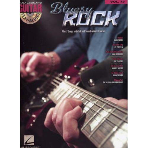 HAL LEONARD GUITAR PLAY ALONG VOL.73 - BLUESY ROCK + CD - GUITAR TAB