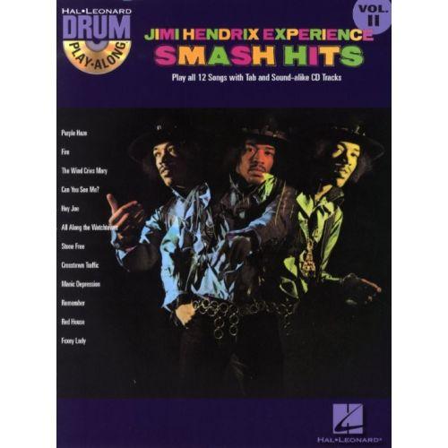 HAL LEONARD HENDRIX JIMI - DRUM PLAY ALONG VOL.11 - SMASH HITS + CD