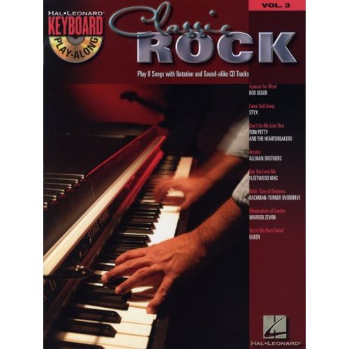 HAL LEONARD KEYBOARD PLAY ALONG VOL.3 - CLASSIC ROCK + CD