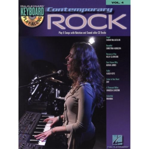 HAL LEONARD KEYBOARD PLAY ALONG VOL.4 - CONTEMPORARY ROCK + CD - PVG