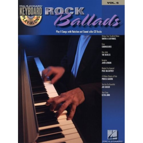HAL LEONARD KEYBOARD PLAY ALONG VOL.6 - ROCK BALLADS + CD