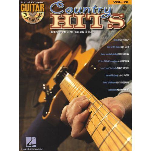 HAL LEONARD GUITAR PLAY ALONG VOLUME 76 - COUNTRY HITS + CD - GUITAR TAB