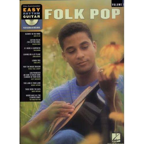 HAL LEONARD EASY RHYTHM GUITAR SERIES VOL.1 - FOLK POP + CD