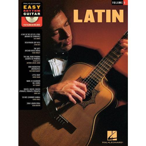 HAL LEONARD EASY RHYTHM GUITAR VOL.5 LATIN + CD - GUITARE
