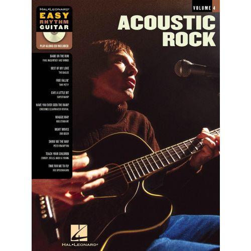 HAL LEONARD EASY RHYTHM GUITAR VOLUME 4 ACOUSTIC ROCK + CD - GUITAR