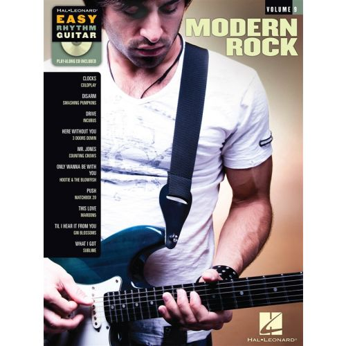 HAL LEONARD EASY RHYTHM GUITAR VOLUME 9 MODERN ROCK + CD - GUITAR TAB