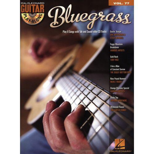 HAL LEONARD GUITAR PLAY ALONG VOLUME 77 - BLUEGRASS GUITAR + CD - GUITAR TAB