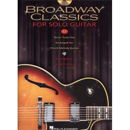HAL LEONARD BROADWAY CLASSICS FOR SOLO GUITAR TAB + CD