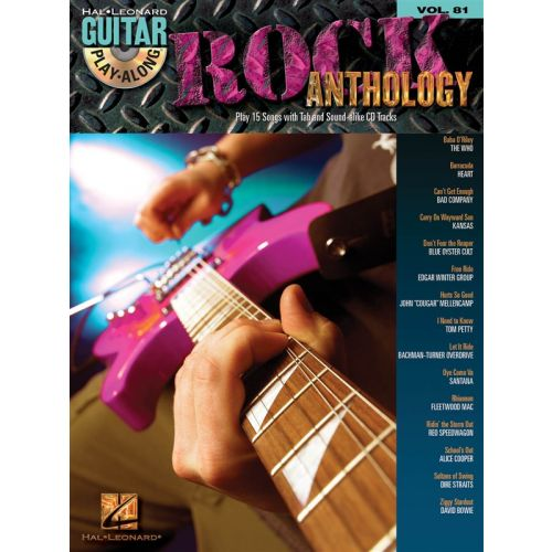 HAL LEONARD GUITAR PLAY ALONG VOLUME 81 ROCK ANTHOLOGY TAB + 2CD - GUITAR