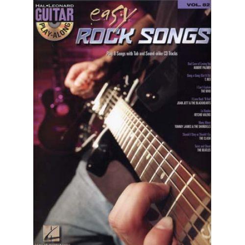 HAL LEONARD GUITAR PLAY ALONG VOL.82 - EASY ROCK SONGS + CD - GUITAR TAB