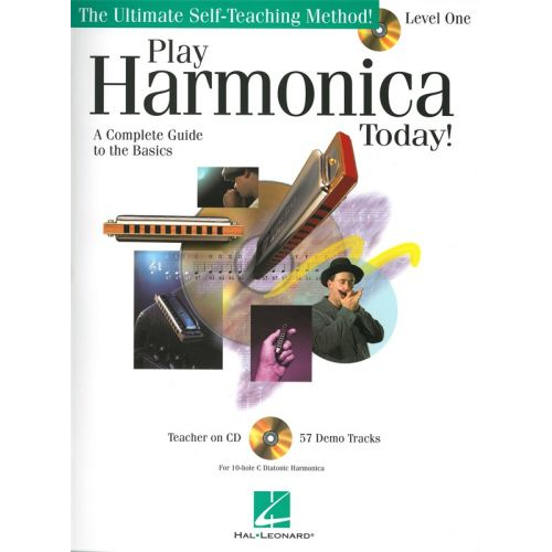 HAL LEONARD PLAY HARMONICA TODAY SELF TEACHING METHOD LEVEL 1 + CD - HARMONICA