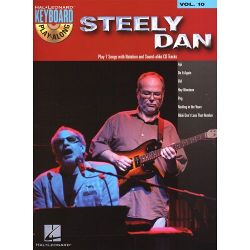 HAL LEONARD KEYBOARD PLAY ALONG VOLUME 10 STEELY DAN KEYBOARD + CD - PVG