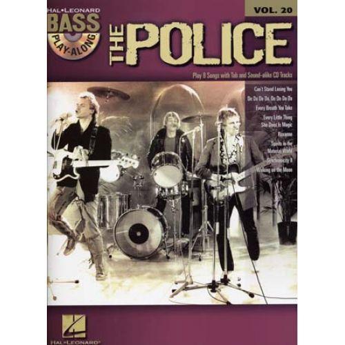 HAL LEONARD POLICE - BASS PLAY ALONG VOL.20 + CD - BASS TAB