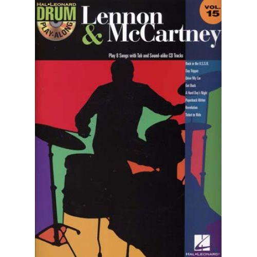 HAL LEONARD DRUM PLAY ALONG VOL.15 LENNON & MCCARTNEY + CD - BATTERIE