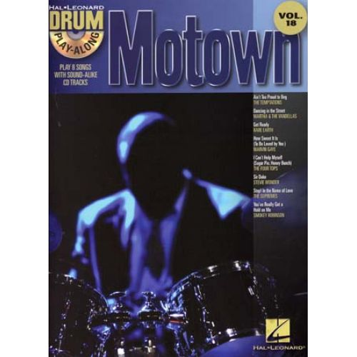 HAL LEONARD DRUM PLAY ALONG VOL.18 MOTOWN + CD