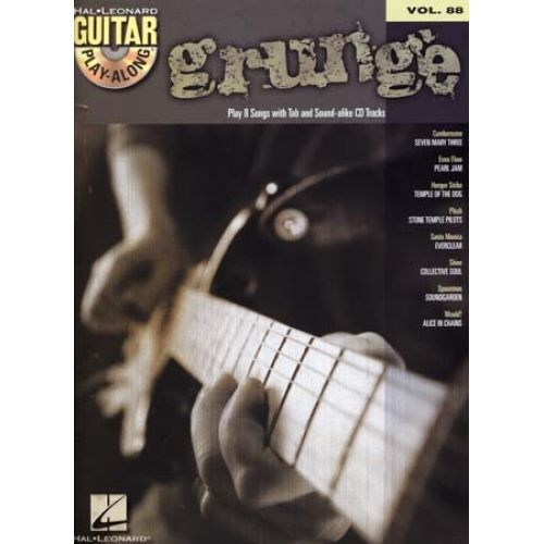 HAL LEONARD GUITAR PLAY ALONG VOL.088 GRUNGE + CD