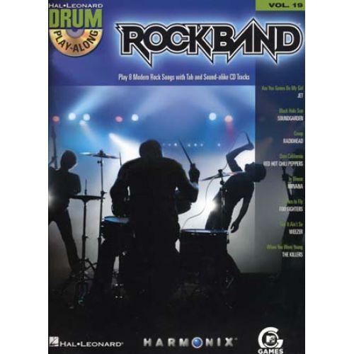 HAL LEONARD DRUM PLAY ALONG VOL.19 ROCKBAND + CD - BATTERIE