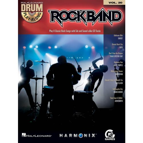 HAL LEONARD DRUM PLAY ALONG VOLUME 20 ROCKBAND DRUMS + CD - DRUMS
