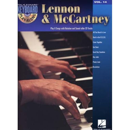 HAL LEONARD LENNON & McCARTNEY - KEYBOARD PLAY ALONG VOL.14 + CD - PIANO, CHANT