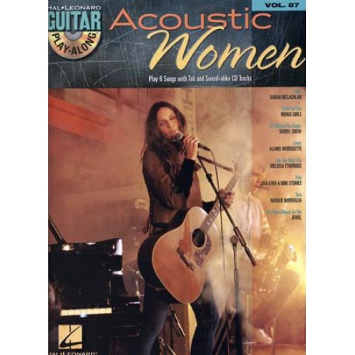 HAL LEONARD GUITAR PLAY ALONG VOL.87 - ACOUSTIC WOMEN + CD - GUITAR TAB