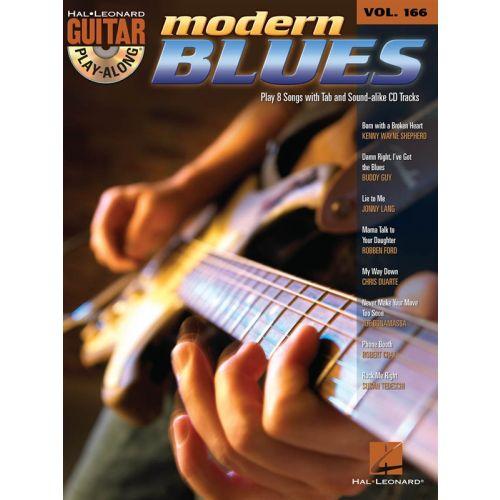 HAL LEONARD GUITAR PLAY ALONG VOLUME 166 MODERN BLUES + CD - GUITAR