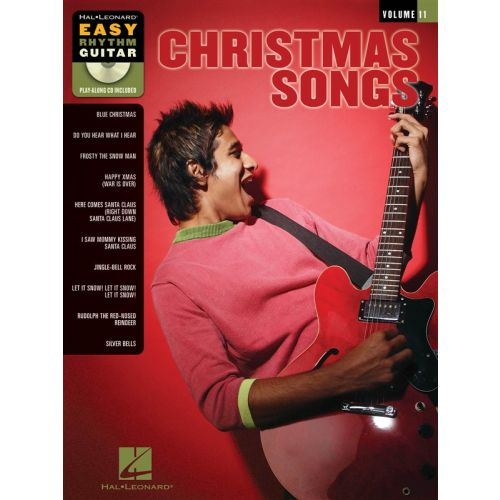 HAL LEONARD CHRISTMAS SONGS EASY RHYTHM GUITAR + CD - GUITAR TAB