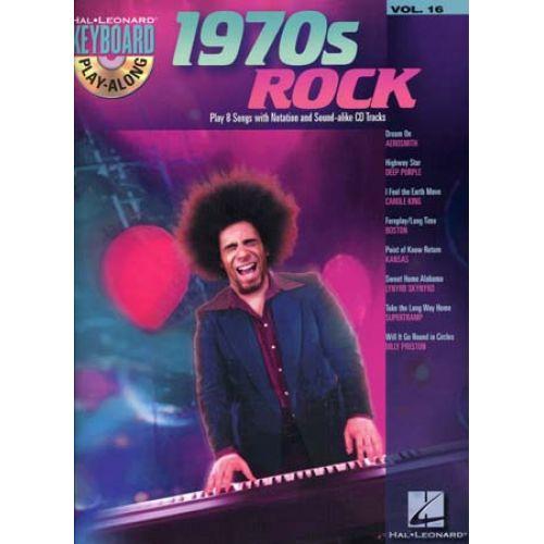 HAL LEONARD KEYBOARD PLAY ALONG VOL.16 1970'S ROCK + CD
