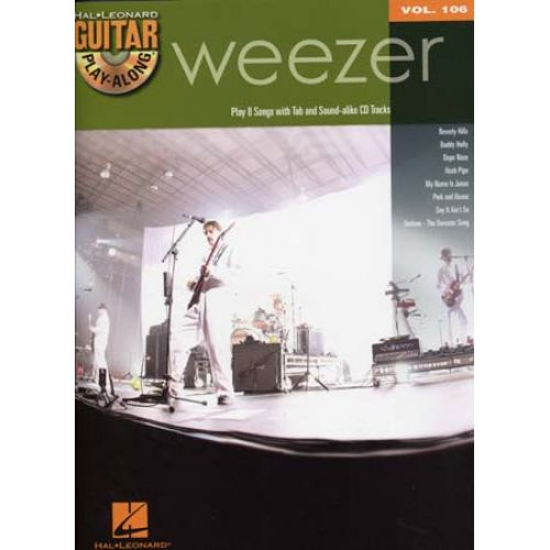HAL LEONARD GUITAR PLAY ALONG VOL.106 WEEZER