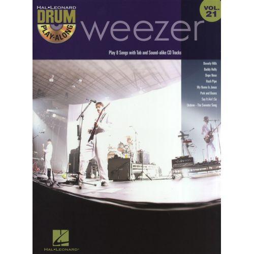 HAL LEONARD WEEZER + CD - DRUMS
