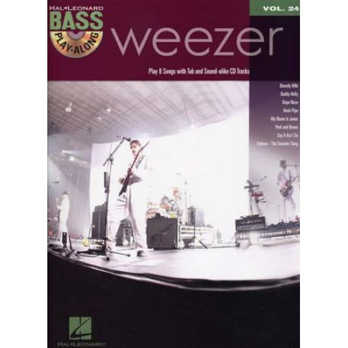 HAL LEONARD BASS PLAY ALONG VOL.24 WEEZER + CD - BASS TAB