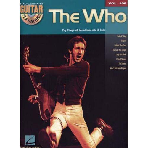 HAL LEONARD THE WHO - GUITAR PLAY ALONG VOL.108 + CD - GUITARE TAB
