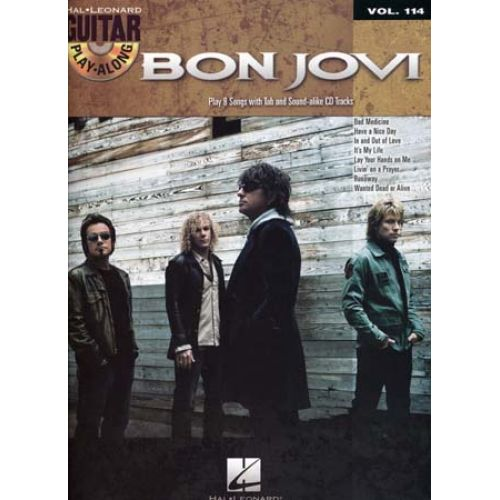HAL LEONARD BON JOVI - GUITAR PLAY ALONG VOL.114 + CD - GUITARE TAB