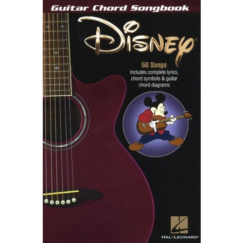 HAL LEONARD DISNEY GUITAR CHORD SONGBOOK 6 X 9 LYRICS CHORDS AND DIAGRAMS- LYRICS AND CHORDS