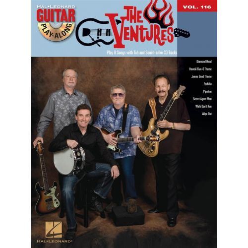 HAL LEONARD GUITAR PLAY-ALONG VOLUME 116 THE VENTURES GUITAR + CD - GUITAR TAB