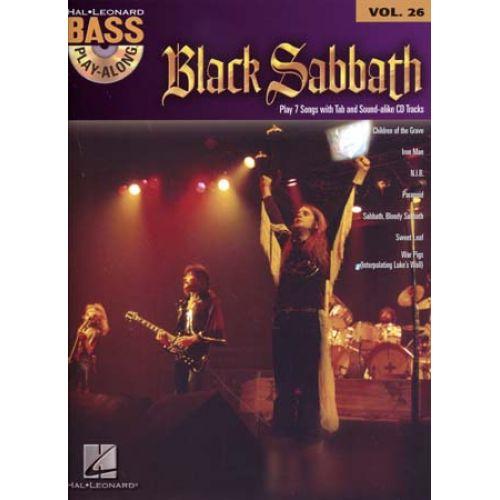 HAL LEONARD BLACK SABBATH - PLAY ALONG VOL.26 + CD - BASS TAB