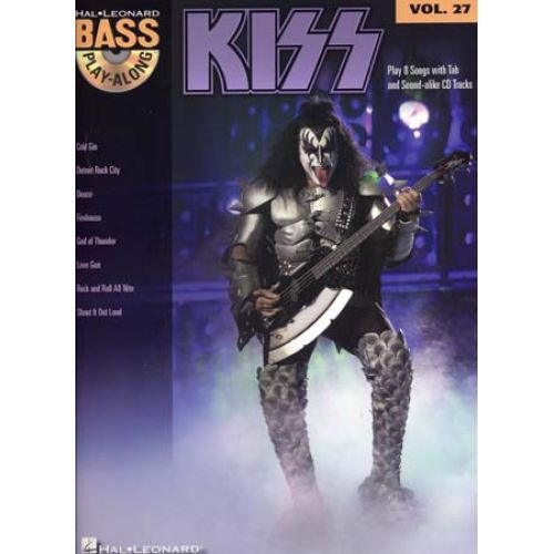 HAL LEONARD KISS - BASS PLAY ALONG VOL.27 + CD - BASSE TAB