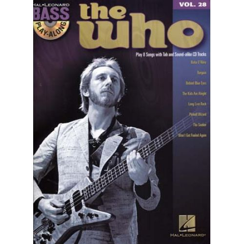 HAL LEONARD BASS PLAY ALONG VOL.28 THE WHO + CD - BASS TAB