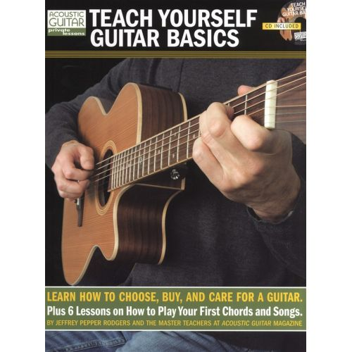 MUSIC SALES TEACH YOURSELF GUITAR BASICS LEARN TO CHOOSE BUY AND CARE FOR + CD TAB - GUITAR